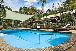 Resort swimming pool with ramp access